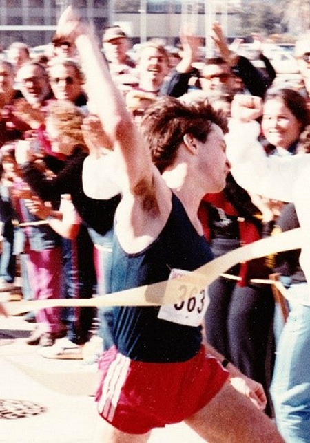 David winning the Jacksonville Marathon